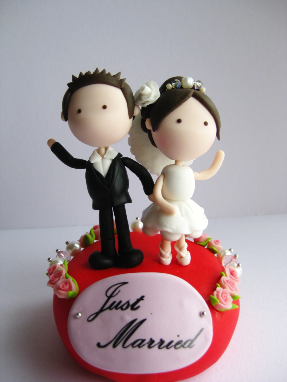 Wedding Clay Cake Topper Flower Decorative