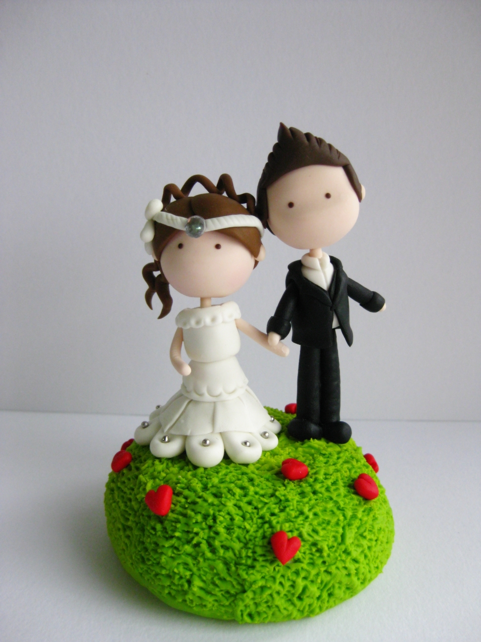Wedding Clay Cake Topper