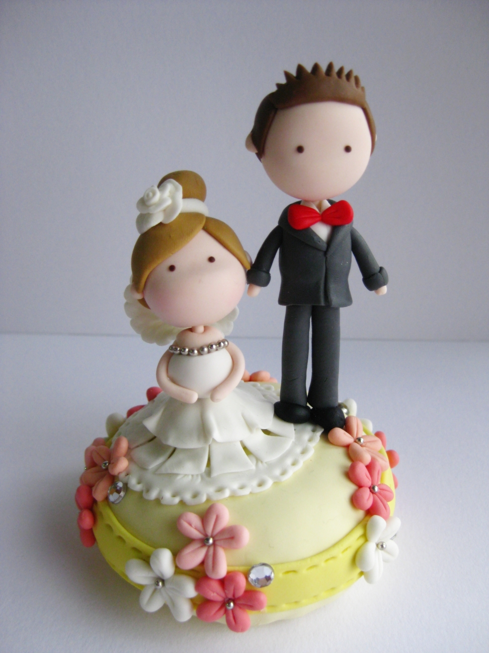 Wedding Clay Cake Topper Not Edible On Luulla